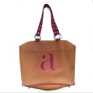"Chic ""a"" Printed Tote Bag"